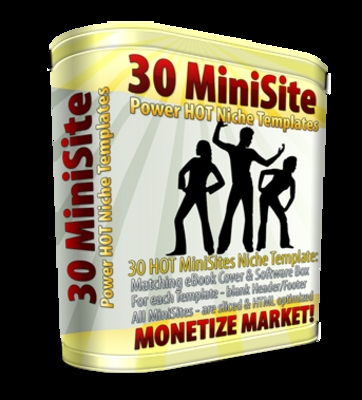 Product picture 30 MiniSite Power HOT Niche Templates
