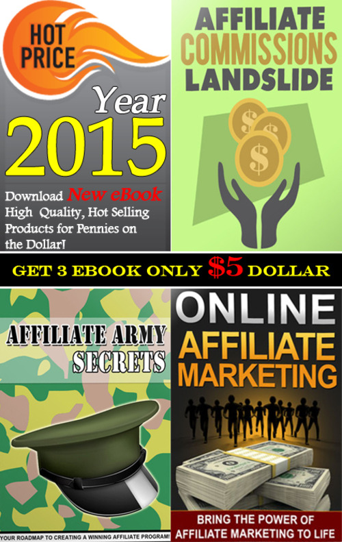 Product picture GET 3 eBook about Affiliate Program in Package 2015